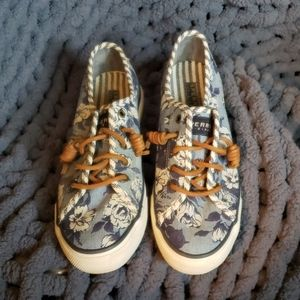 Sperry Top Sider Blue Flower